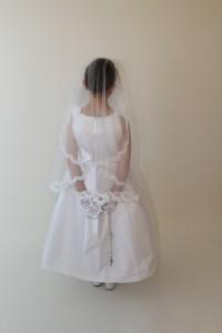 1322-2 Alencon Lace Mantilla Veil