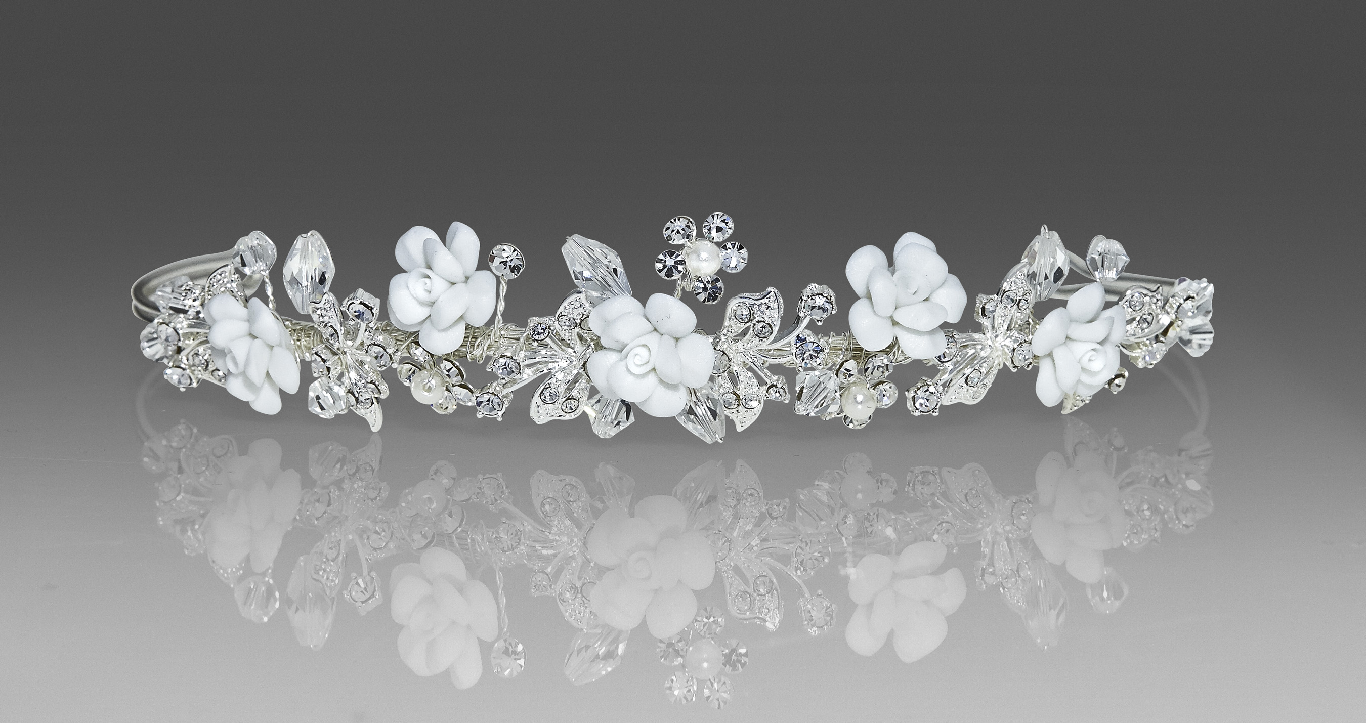 Porcelain Flower Tiara Laylas Boutique Kop